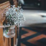 Pretty Flowers On A Pew